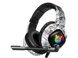 K19 Gaming Headset, Compatible for Xbox One,Nintendo Switch,with Noise Cancelling Mic,LED Light,Over Ear Stereo Headphones,Bass Surround,Memory Earmuffs,with Free Headset Hook