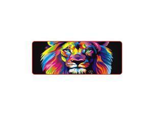 Lion Animal Gaming Mouse Pad LED RGB Large Gamer Mousepad USB LED Lighting Backlit Rainbow Computer Mat Keyboard Desk Pad