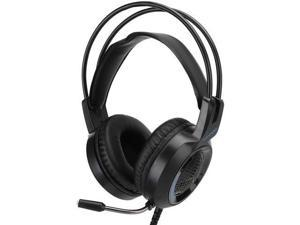 Cuifati Head-Mounted Gaming Headset with Noise Reduction Microphone LED 3.5mm Headset for/PC/Switch