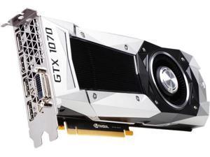 PNY GeForce GTX 1070 Founders Edition 8GB GDDR5 PCI Express 3.0 Graphics Card VCGGTX10708PB-CG