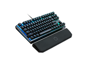 MK730 TENKEYLESS MECHANICAL KEYBOARD WITH BLUE SWITCHES, CHERRY MX, RGB PER-KEY LIGHTING AND REMOVABLE WRIST REST