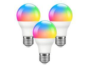 Giant Base Smart Light Bulb, A19 E26 9W Wi-Fi LED Smart Bulb, Works with Alexa, Echo, Google Home & Siri (No Hub Required), RGB-CCT Multicolor, Warm to Cool White Dimmable, 60W Equivalent 3 Pack