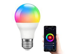 Giant Base Smart Light Bulb, A19 E26 9W Wi-Fi LED Smart Bulb, Works with Alexa, Echo, Google Home & Siri (No Hub Required), RGB-CCT Multicolor, Warm to Cool White Dimmable, 60W Equivalent
