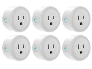 Giant Base Smart Plug, Smart WiFi Outlet Works with Alexa and Google Home, 2.4G WiFi Only, No Hub Required, Remote Control Your Home Appliances from Anywhere, ETL and FCC Listed 6 Pack