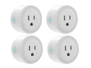 Giant Base Smart Plug, Smart WiFi Outlet Works with Alexa and Google Home, 2.4G WiFi Only, No Hub Required, Remote Control Your Home Appliances from Anywhere, ETL and FCC Listed 4 Pack