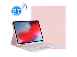 YT11B-A 2021 Detachable Candy Color Skin Texture Round Keycap Bluetooth Keyboard Leather Case with Touch Control & Pen Slot & Stand For iPad Pro 11