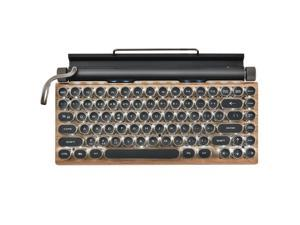 TW1867 Round Retro Punk Keycap Mechanical Wireless Bluetooth Keyboard