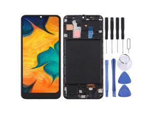 TFT Material LCD Screen and Digitizer Full Assembly With Frame for Samsung Galaxy A30