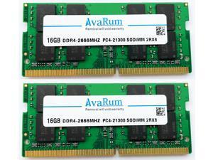 32GB KIT (2X16GB) DDR4-2666Mhz (PC4-21300) SODIMM 2Rx8 Memory for Laptops Notebooks by Avarum Ram