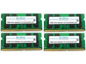 64GB KIT (4x16GB) DDR4-2666Mhz PC4-21300 SODIMM 2Rx8 Memory for Laptops Notebooks by Avarum Ram