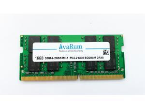 16GB DDR4-2666Mhz (PC4-21300) SODIMM 2Rx8 Memory for Laptops Notebooks by Avarum Ram