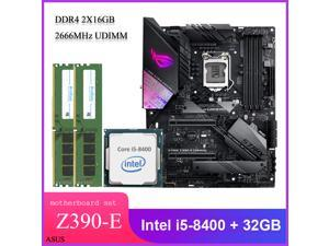 Asus ROG STRIX Z390-E GAMING ATX Desktop Motherboard Combo Set with Intel Core i5-8400 LGA 1151 CPU 2pcs X 16GB = 32GB 2666MHz DDR4 Memory by Avarum Ram