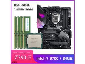 Asus ROG STRIX Z390-E GAMING ATX Desktop Motherboard Combo Set with Intel Core i7-9700 Coffee Lake LGA 1151 CPU 4pcs X 16GB = 64GB 3200MHz DDR4 Memory by Avarum Ram