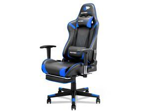 SOUTHERN WOLF Video Gaming Chair Office Chair with Lumbar Support, Racing Style PU Leather Adjustable Swivel Task Chair with Footrest, Ergonomic Computer Chair Reclining High Back