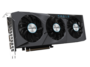 GIGABYTE Radeon RX 6600 XT EAGLE 8G WINDFORCE 3X Cooling System, 8GB 128-bit GDDR6,  GV-R66XTGAMINGOC PRO-8GD Video Card