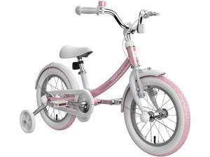 Pink Segway Ninebot Kids Bike for Boys and Girls, 14 inch with Training Wheels