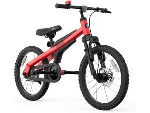 Red Segway Ninebot Kids Bike for Boys and Girls 18 inch with Kickstand