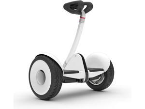 White Segway Ninebot S Smart Self-Balancing Electric Scooter with LED light, Portable and Powerful