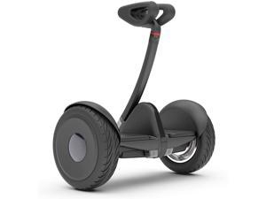 Black Segway Ninebot S Smart Self-Balancing Electric Scooter with LED light, Portable and Powerful