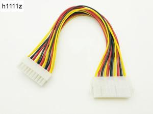 20 Pin Male to 20Pin Female Internal PC PSU Power Adapter ATX Extension Cable Connector Motherboard 20P Power Supply for Desktop
