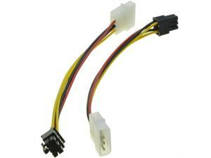 4 Pin Molex to 6 Pin PCI-Express PCIE Video Card Power Converter Adapter Cable Power Converter Cable - Molex to Pcie #T2