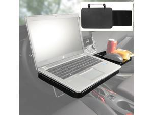 Foldable Car Computer Rack with Drawer Shelf Car Steering Wheel Seat Back Laptop Tray PC Food Drink Table Holder Stand Hanging