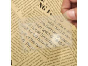 Portable Credit Card Size Magnifier 3X Magnification Reading Magnifier Glasses Pocket Transparent Magnifying Glass Lens