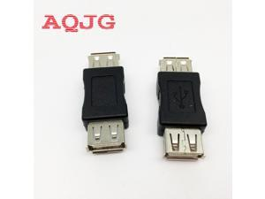 1 pcs USB 2.0 Type A Female to A Female Coupler Adapter Connector F/F Converter Promotion Usb extend Jack AQJG