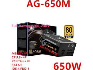 For ApexGaming 2070 Full Modular Chicken Eating Game Power Supply Rated 650W Peak 850W Power Supply AG-650M