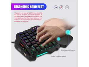 Hxsj V500 Streaming Ribbon One-handed Gaming Keyboard Converter Gaming Keyboard Desktop Office Entertainment For Laptop Pc Gamer