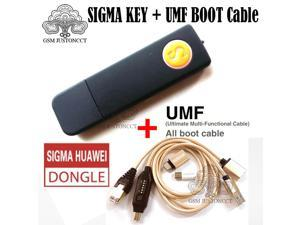 Newest 100%  Sigma key tool sigmakey dongle forhuawei flash repair unlock +( UMF )ALL in One Boot Cable