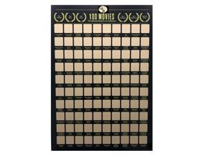 100 movies scratch off poster Top 100 Movie Scratch Off Poster Movie Bucket List Great Gift