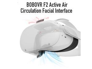 BOBOVR F2 for Oculus Quest 2 Active Air Fan Facial Interface Replace Face Pad Relieve Lens Fogging for Quest 2
