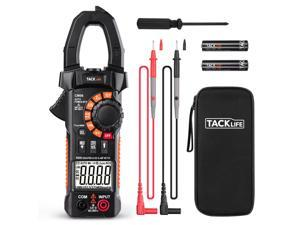 TACKLIFE CM06-Clamp Meter, 6000 Counts Clamp Ammeter, with NVC Auto Range Tests, AC / DC Current and Voltage, Electrical Diode, Resistance