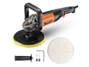 TACKLIFE PPGJ05A-Buffer Polisher, 7-inch Car Buffer Polisher, 6 Variable Speeds from 1500~3500 RPM, 10A, D-Handle, Wool disc, Ideal for Car Polishing, Furniture/Wood Polishing, Paint/Rust Removal