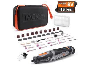 TACKLIFE RTD02DC-Cordless rotary tool 8V Motor 2.0 Ah Li-ion Battery with 43 Accessories, Long Endurance Power  Rotary Tool