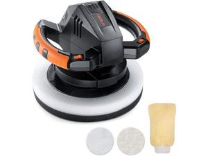 TACKLIFE TCP01A-Waxer/Polisher, TACKLIFE 10-Inch Dual Action Random Orbital Car Buffer Polisher Waxer, 10Ft Power Cord, Variable Speed, With Polisher Pad Bonnets and Gloves, Ideal for Car Waxing