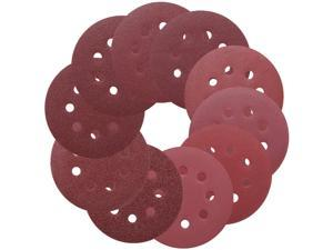 TACKLIFE ASD1A-Sanding Discs 5-Inch 8-Hole 100pcs Hook and Loop Sandpaper, 40/60/80/100/150/180/240/320/400/800 Grits Sandpaper for Random Orbit Sander