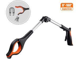 TACKLIFE RG01-Upgrade Reacher Grabber Tool, 0°-180° Angled Arm, 90° Rotating Head