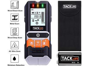 TACKLIFE MS05-Stud Finder, 5 in 1 Multi-Functional Center Finding Wall Scanner Detector with LCD Display