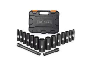 TACKLIFE HIS4A-3/8-Inch 16pcs Drive Deep Impact Socket Set
