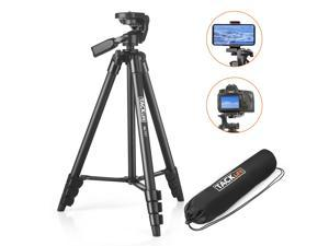 TACKLIFE Lightweight Tripod 55-Inch, Aluminum Travel/Camera/Phone Tripod With Carry Bag - MLT01