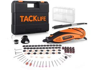 TACKLIFE Rotary Tool Kit With Upgraded MultiPro Keyless Chuck, Versatile Accessories And 4 Attachments And Carrying Case, Multi-Functional For Around-The-House And Crafting Projects-RTD35ACL