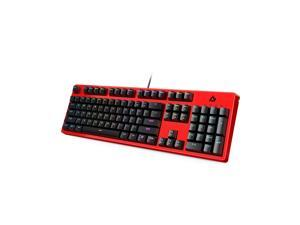 AUKEY KM-G18 Mechanical Gaming Keyboard RGB Backlight with Linear Red Switches, 104-Key Anti-Ghosting Wired USB Keyboard for PC, Laptop