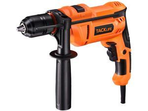 TACKLIFE Hammer Drill 7.5Amp Corded Drill With 3000RPM Variable Speed 1/2 Inch Keyless Chuck Hammer & Drill 2 Mode In 1 For Brick Steel Wood - PID05A