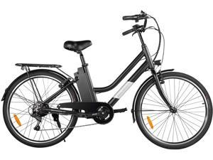"""Macwheel 26"""" Electric Bike, Removable 36V/10Ah Lithium-ion Battery, Max Speed 15.5MPH, Shimano 6/7-Speed Gear Electric Commuter Bike with Throttle & Pedal Assist LNE-26"""