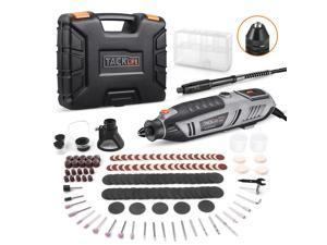 TACKLIFE RTD36AC Rotary Tool 200W Power Variable Speed with 170 Accessories, MultiPro Keyless Chuck and Flex Shaft, Carrying Case, Multi-Functional for Around-The-House and Crafting Projects - RTD36AC