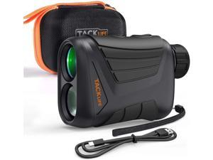 TACKLIFE MLR01 Laser Range Finder BLACK and ORANGE, Can Measure 900 Yards Farther; 7 Times Magnification and Full Multilayer Coating, Durable And Waterproof Body Makes The Image Clearer and More