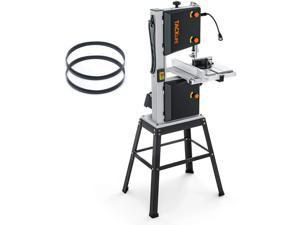 TACKLIFE 10-Inch 3.5-Amp Band Saw , Two Speeds (2160FPM & 3150FPM), Movable LED Worklight, Aluminum Table Extension, 0°to 45°Bevel Cutting, Benchtop Band Saw with Additional Blade, 2 Scales - PBS01A