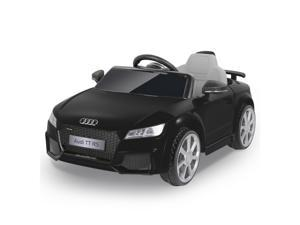 METAKOO AUDI JE1198 Ride on Car Licensed Audi TT RS, 12V Kids Electric Motorized Car with 2.4G Remote Control, LED Lights, High/ Low Speed, Horn, Safety Belt, MP3 Music Player, AUX &USB Port